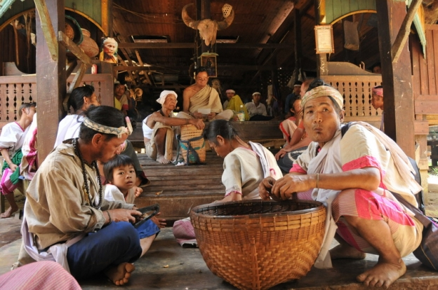 temple de Letongku village karen Thaïlande