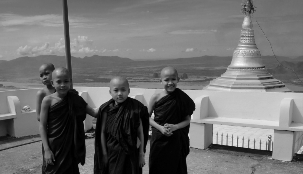 Novices sur le Mt Shwegabin Hpa an